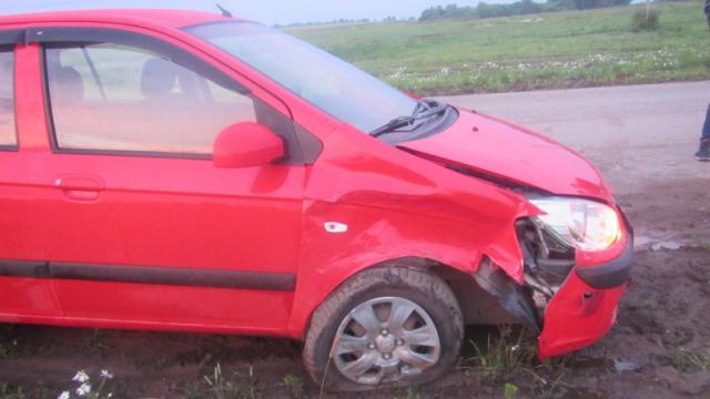 На трассе Кострома - Пасынково автоледи врезалась в автомобиль