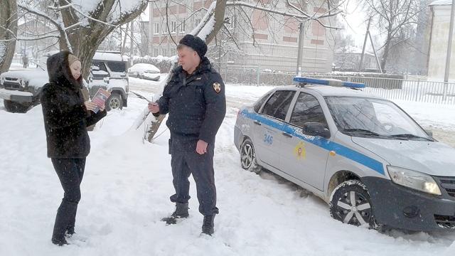 Костромские росгвардейцы проводят акцию «Безопасный Новый год»